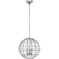 "Picture for category Pendants 3 Light Fixtures With Polished Nickel Finish Steel Material Candelabra Bulb 13"" 180 Watts"