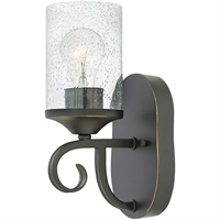 "Picture for category Olde Black Tone Finished Wall Sconces 6"" Wide Metal Medium Type 1 Light Fixture"