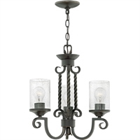 "Picture for category Olde Black Tone Finished Chandeliers 17"" Wide Metal Medium Type 3 Light Fixture"