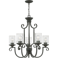 "Picture for category Olde Black Tone Finish Pendants 26"" Wide Metal Material Medium Type 5 Light Fixture"