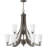 "Picture for category Pendants 9 Light Fixtures With Oil Rubbed Bronze Finish Steel Material Medium Bulb 33"" 675 Watts"