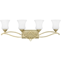 "Picture for category Bathroom Vanity 4 Light Fixtures With Silver Leaf Finish Metal Material Medium Bulb 31"" 400 Watts"