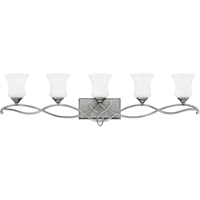 "Picture for category Bathroom Vanity 5 Light Fixtures With Antique Nickel Finish Metal Material Medium Bulb 42"" 500 Watts"