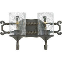 "Picture for category Olde Black Tone Finish Bathroom Vanity 16"" Wide Metal Medium Type 2 Light Fixture"