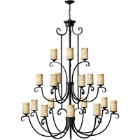 "Picture for category Olde Black Tone Finish Pendants 57"" Wide Metal Material Medium Type 18 Light Fixture"