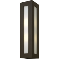"Picture for category Wall Sconces 2 Light Fixtures With Bronze Finish Aluminum Material Medium Bulb 6"" 200 Watts"