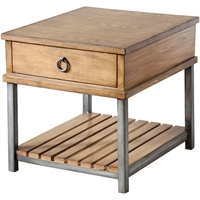 Picture for category Honolulu Tables 27in MDF Solid Wood Iron Veneer