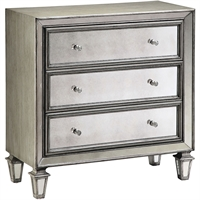 Picture for category Alphard Furniture 15in Antique Siler with Gray MDF Poplar Glass