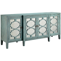 Picture for category Glendale Furniture 19in Blue Gray with Antique Mirror MDF Solid Wood Mirror