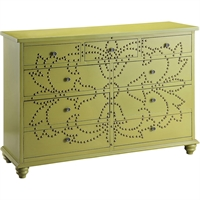 Picture for category San angelo Furniture 17in Green Antique Brass MDF Solid Wood