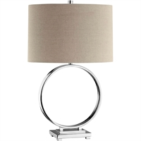 Picture for category Table Lamps 1 Light Fixtures With Chrome Finish Steel Material A-15 Bulb 17 inch Wide 100 Watts