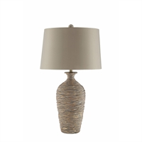 Picture for category Table Lamps 1 Light Fixtures With Gold Finish Ceramic Steel Material A-15 Bulb 17 inch Wide 150 Watts