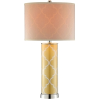 Picture for category Table Lamps 1 Light Fixtures With Yellow and Silver Finish Glass Steel Material 14 inch Wide 60 Watts