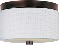 Picture for category Flush Mounts 2 Light With Oil Rubbed Bronze Tones Finish MB Bulbs 10 inch 80 Watts
