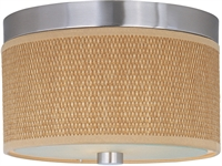 Picture for category Flush Mounts 2 Light With Satin Nickel Tones Finished MB Bulbs 10 inch 80 Watts