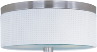 Picture for category Flush Mounts 2 Light With Satin Nickel Tones Finished MB Bulbs 14 inch 120 Watts