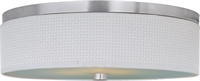 Picture for category Flush Mounts 3 Light With Satin Nickel Tones Finished MB Bulbs 20 inch 180 Watts