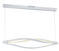 "Picture for category Matte White Tone Finish Island Lighting Matte White Shade Acrylic Glass 42"" Wide 3 Light Fixture"