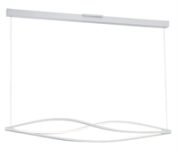 "Picture for category Matte White Tone Finish Pendants Matte White Shade Acrylic Glass 71"" Wide 3 Light Fixture"
