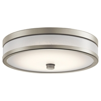 Picture for category Kichler Lighting 11302NILED Flush Mounts Brushed Nickel Plastic Pira