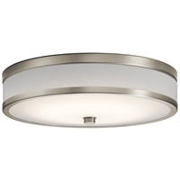 Picture for category Kichler Lighting 11303NILED Flush Mounts Brushed Nickel Plastic Pira