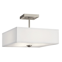 Picture for category Kichler Lighting 43691NI Semi Flush Brushed Nickel Steel Shailene