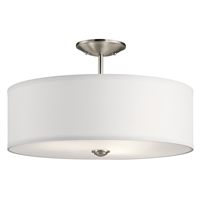 Picture for category Kichler Lighting 43692NI Semi Flush Brushed Nickel Steel Shailene