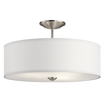Picture of Kichler Lighting 43692NI Semi Flush Brushed Nickel Steel Shailene