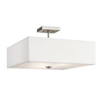Picture for category Kichler Lighting 43693NI Semi Flush Brushed Nickel Steel Shailene