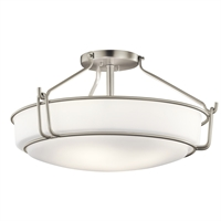 Picture for category Kichler Lighting 44086NI Semi Flush Brushed Nickel Steel Alkire