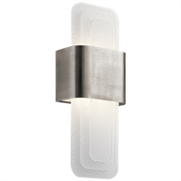 Picture for category Kichler Lighting 44162CLPLED Wall Sconces Classic Pewter Steel Serene
