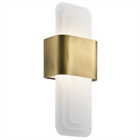 Picture for category Kichler Lighting 44162NBRLED Wall Sconces Natural Brass Steel Serene