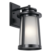 Picture for category Kichler Lighting 49918BK Wall Sconces Black Aluminum Harbor Bay