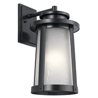 Picture for category Kichler Lighting 49919BK Wall Sconces Black Aluminum Harbor Bay