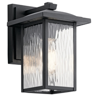 Picture for category Kichler Lighting 49924BKT Wall Sconces Textured Black Aluminum Capanna