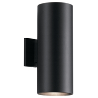 Picture for category Kichler Lighting 9246BK Wall Sconces Black Aluminum Signature