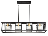 Picture for category Nuvo Lighting 60/6417 Island Lighting Black Steel Algenib