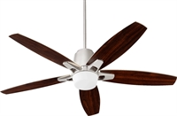 Picture for category Indoor Ceiling Fans 1 Light With Satin Nickel Finish Mini Bulbs 52 inch 75 Watts