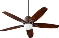 Picture for category Indoor Ceiling Fans 1 Light With Oiled Bronze Finish Mini Bulbs 52 inch 75 Watts