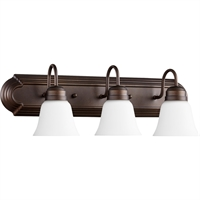 Picture for category Bathroom Vanity 3 Light With Oiled Bronze Finish Medium Base Bulbs 24 inch 300 Watts