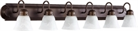 Picture for category Bathroom Vanity 6 Light With Oiled Bronze with Faux Alabaster Finish Medium Base Bulbs 48 inch 600 Watts
