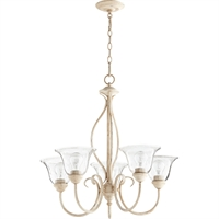 Picture for category Chandeliers 5 Light With Persian White Finish Medium Base Bulbs 25 inch 300 Watts