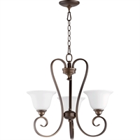 Picture for category Chandeliers 3 Light With Oiled Bronze Finish Medium Base Bulbs 21 inch 180 Watts