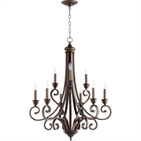 Picture for category Chandeliers 9 Light With Oiled Bronze Finish Candelabra Base Bulbs 29 inch 540 Watts