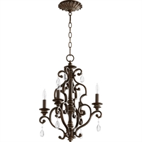 Picture for category Chandeliers 4 Light With Vintage Copper Finish Candelabra Base Bulbs 16 inch 240 Watts