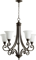 Picture for category Chandeliers 5 Light With Oiled Bronze Finish Medium Base Bulbs 28 inch 300 Watts