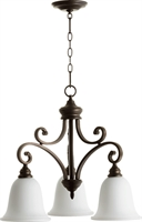 Picture for category Chandeliers 3 Light With Oiled Bronze Finish Medium Base Bulbs 25 inch 300 Watts