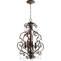 Picture for category Pendants 4 Light With Vintage Copper Finish Candelabra Base Bulbs 19 inch 240 Watts