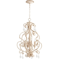 Picture for category Pendants 4 Light With Persian White Finish Candelabra Base Bulbs 19 inch 240 Watts