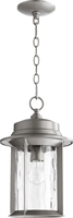 Picture for category Outdoor Pendant 1 Light With Graphite Finish Medium Base Bulbs 10 inch 100 Watts